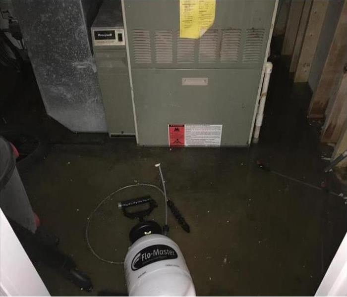 Wet basment floor